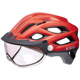 KED Covis Photocromatic Casco, red/grey matte
